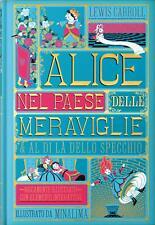 Alice nel paese delle meraviglie illustrato da Minalima Ippocampo Prima Stampa