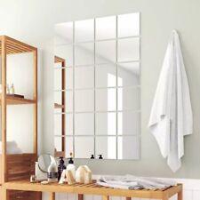 vidaXL 24x Mirror Titles Square Glass Frameless Design Bedroom Bathroom Decor