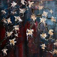 Original abstract oil and mixed media painting by Nalan Laluk: Starlight