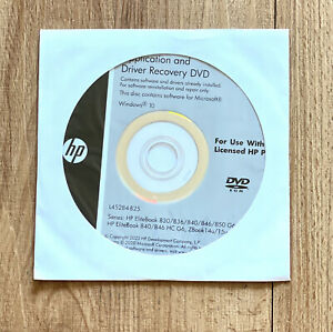 HP 820 828 840 848 850 G3 Application and Driver DVD with Win10 Disc