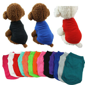 Plain Cotton Cat Dog Clothes Summer Small Medium Dogs Vest Pet T-shirt Clothing