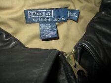 Polo Ralph Lauren Leather Jacket XXL Black