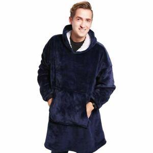 Fleece Hoodie Blanket Oversized Ultra Plush Sherpa Giant Soft Hooded Sweatshirt