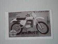 advertising Pubblicità 1977 MOTO ANCILLOTTI 125 CH REGOLARITA'