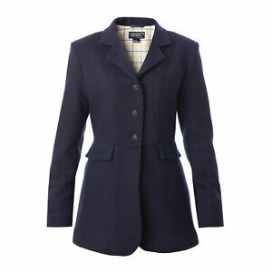 Equetech Ladies Hunt Wool Frock Coat  - Navy NEW