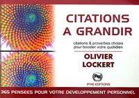 Livre Olivier Lockert - Citations à grandir