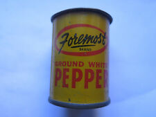 FOREMOST GROUND WHITE PEPPER TIN 1 Oz c1950s FOODSTUFFS SA UNDERDALE SOUTH AUST