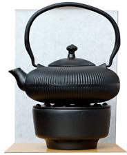 Tea Chaud & Tetsubin Cast Iron Zen Mountain Black Teapot Kettle 0.8 L