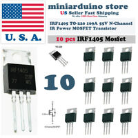 "10pcs IRF1405 IRF 1405 Power MOSFET Transistor TO-220AB ""IR"" N CHANNEL 55V 169A"