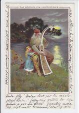 AK Märchen vom Harfenspieler, 1900