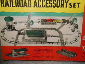 Built Rite Railroad Accessory Station Tower Bridge Set Unstarted in Box 0 Gauge