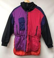 Vintage Tyrolia Skiwear Womens Size 10 Petite Ski Jacket Color Block 80s