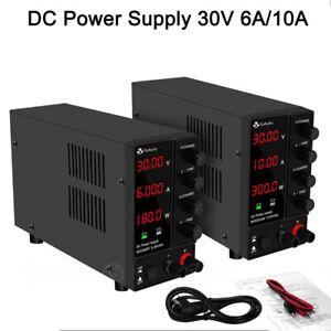 DC Netzgerät 0-30V 10A/6A Labornetzgerät Labornetzteil Regelbares Schaltnetzte