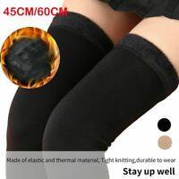 Women's Winter Over Knee Long Socks Plush Fleece Lined Knee High Sock Stockings