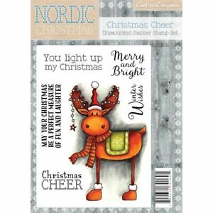 Crafters Companion Nordic Christmas Unmounted Rubber Stamp - Christmas Cheer