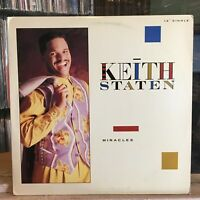 """[SOUL/GOSPEL]~NM 12""""~KEITH STATEN~Miracles~[x3 Mixes]~[1990~LECTION~Issue]"""