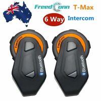 Freedconn 6 Riders Intercom Motorcycle Headset Bluetooth Interphone Helmet Moto