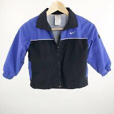 Nike Kids Girls Size Small 4 Windbreaker Jacket Purple Black