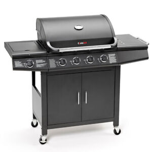 CosmoGrill 4+1 Deluxe Gas Burner Grill BBQ Barbecue W/ Side Burner