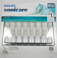 Philips Sonicare e-Series Standard Sonic Toothbrush Replacement Heads 8 Pack