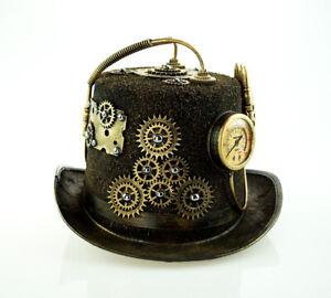 Steampunk Top Hat Burning Man Cosplay Halloween Top Hat