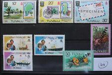 1980 TAVALU - BRITISH COMMONWEALTH STAMPS - 4 SETS - SPECIMEN OVERPRINT