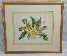 Gay Corran Signed Primrose Print - Glazed & Framed - Ready To Hang - Excellent