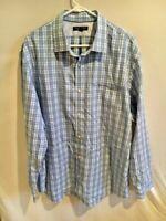 Men's Banana Republic Blue Non Iron Classic Fit Button Front Shirt Sz XXL Cotton