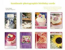 Assorted Handmade Embellished Birthday Cards Box Set 8 Pack Bulk Assortment For