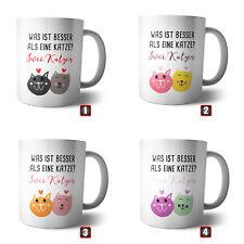 Kaffee-Becher - Tasse Zwei Katzen | Spruch Geschenk Haustier Cat Katzenliebe
