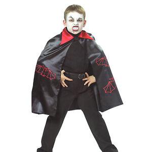 KINDER VAMPIR FLEDERMAUS UMHANG / Halloween Karneval Dracula Jungen Kostüm Cape