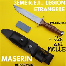 MASERIN COUTEAU FIXE ARMEE FRANCAISE  REGIMENT LEGION ETRANGERE 3ème REI