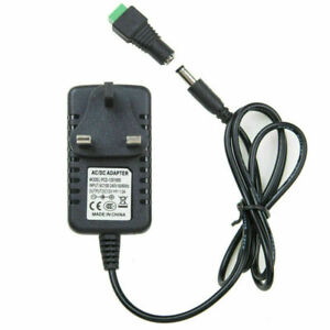 Adapter Power Supply Safety Charger 12V For LED Strip CCTV Camera EU UK 1A 2A DC