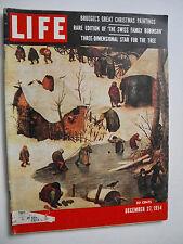 Life Magazine Dec 27 1954/Christmas Star/Nativity in Flanders/Swiss Family Robin