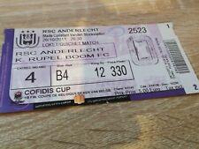 Ticket   Anderlecht Rupel Boom Coupe de Belgique 2011