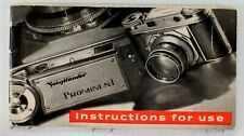 Original Voigtlaender Prominent Instruction Manual - 20 pages - 1951