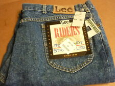 VINTAGE LEE RIDERS  DENIM JEANS 42X32  REGULAR FIT STRAIGHT LEG USA PEPPER WASH