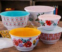 Pioneer Woman ~ Ten (10) Piece Nesting Bowl Set ~ Melamine ~ Country Garden
