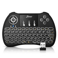 Seneo 2.4GHz Mini Backlit Wireless Keyboard Touchpad Mouse For PC Android TV Box