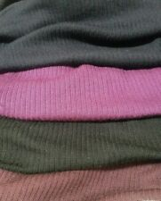 STRETCH RIB KNIT FABRIC-4 COLOURS-SOLD BY THE METER
