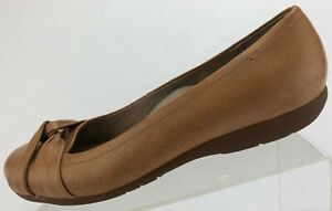 Abeo Ballet Flats Terrie Brown BIO System Comfort Dress Leather Shoes Womens 8 N