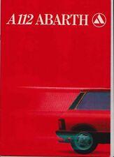 Six 1977-82 LANCIA AUTOBIANCHI A112 German & Swedish Market Brochures ABARTH