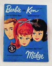 Vintage Barbie Ken Midge Brochure Clothes Accessories Mattel 1962 Blue