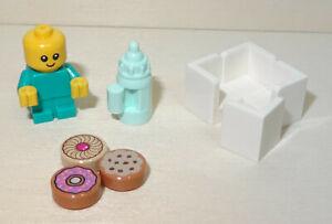 Nr.3276 Lego cty1186 18855 türkises Baby mit 3 Keksen und Flasche