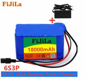 24V 18Ah Battery 25.2v 18000mAh Electric Bicycle Battery Pack with charger