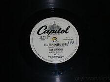 "RAY ANTHONY My Concerto/ I'll Remember April PROMO 10"" vinyl 78 Capitol 1835"