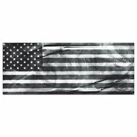 American Glory Black & White | Modern Patriotic Metal Wall Art USA Flag Artwork