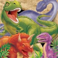 Dino Blast 3-Ply Lunch Napkins 16 Pack Dinosaur Birthday Party Decoration
