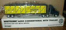 1/64 Ertl 1992 NATIONAL TOY TRUCK SHOW Des Moines Iowa White GMC Volov Semi 9585