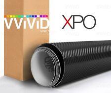 Black 3d carbon fiber vinyl car wrap VViViD XPO stretch bubble free choose size
